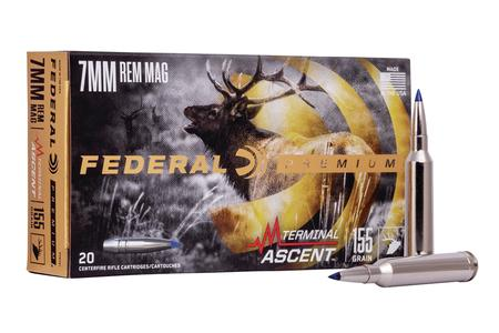 FEDERAL AMMUNITION 7mm Rem Mag 155 gr Terminal Ascent 20/Box