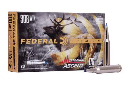 Federal 308 Win 175 gr Terminal Ascent 20/Box