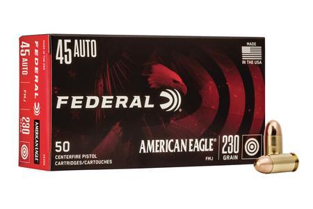 Federal 45 Auto 230 gr FMJ American Eagle 50/Box
