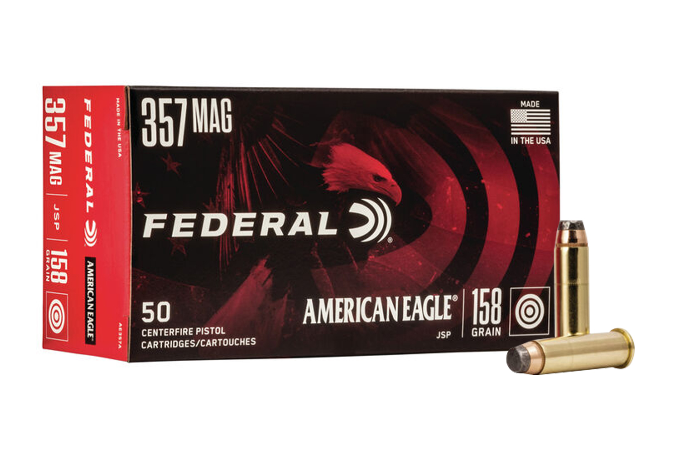 Federal 357 Mag 158 gr Jacketed Soft Point 50/Box | Sportsman's Outdoor  Superstore