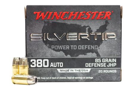 Winchester 380 Auto 85 gr Jacketed Hollow Point Silvertip 20/Box