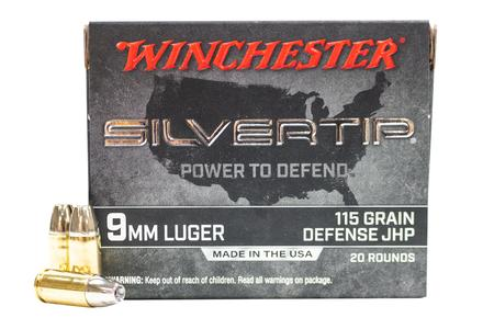 Winchester 9mm 115 gr Jacketed Hollow Point Silvertip 20/Box