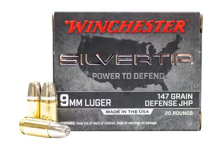 Winchester 9mm 147 gr Jacketed Hollow Point Silvertip 20/Box