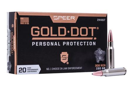Speer 308 Win 150 gr Gold Dot Personal Protection 20/Box