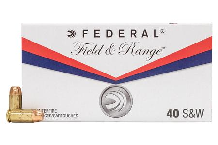 FEDERAL AMMUNITION 40SW 180 gr FMJ Field and Range 50/Box