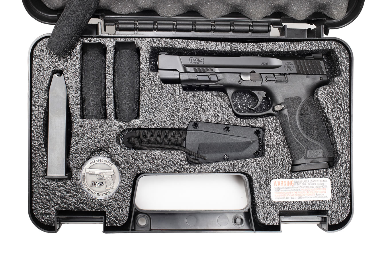 No. 16 Best Selling: SMITH AND WESSON MP9 M2.0 SPEC SERIES KIT NTS KNIFE AND COIN