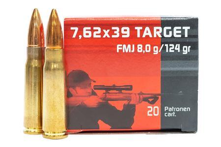 Geco 7.62x39mm 124 gr FMJ Target 20/Box