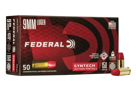 Federal 9mm 150 gr TSJ Syntech Action Pistol 50/Box