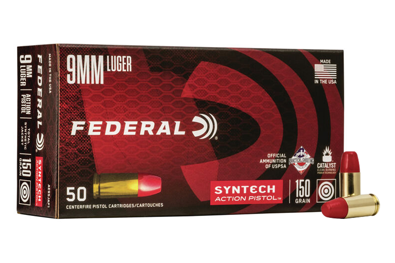 9MM 150 GR TOTAL SYNTHETIC JACKET ACTION PISTOL
