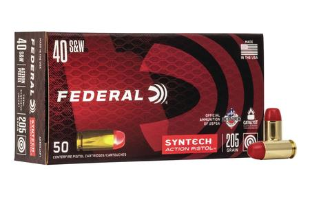 Federal 40SW 205 gr Syntech Action Pistol 50/Box