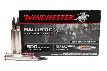 WINCHESTER AMMO 300 Win Mag 180 gr Polymer Ballistic Silvertip 20/Box