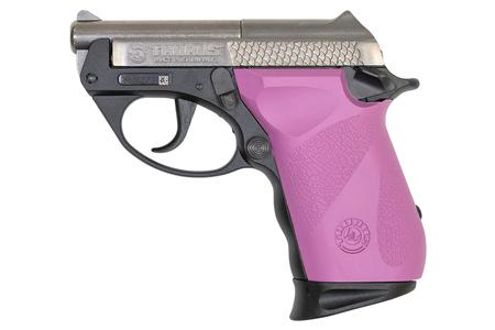 TAURUS PT22 22LR SEMI-AUTOMATIC PISTOL WITH RASPBERRY GRIPS