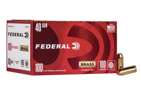 Federal 40SW 180 gr FMJ Champion Training 100/Box
