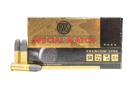Rws 22 LR 40 gr Lead Round Nose Special Match 50/Box