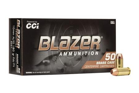 CCI AMMUNITION 10mm 180 gr FMJ FN Blazer 50/Box