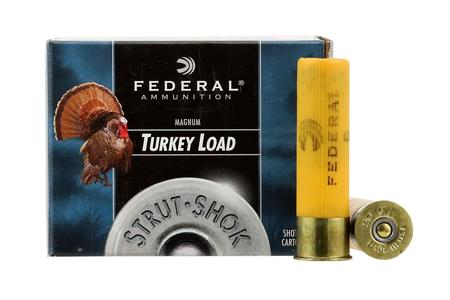 FEDERAL AMMUNITION 20 Gauge 3 in 1-1/4 oz 5 Shot Strut-Shok Turkey Load 10/Box