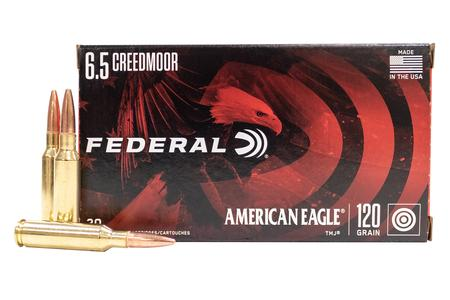 Federal 6.5 Creedmoor 120 gr Total Metal Jacket American Eagle 20/Box