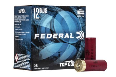 Federal 12 Ga, 2.75 In, 8 Shot, Top Gun Shotgun Shells, 25/Box