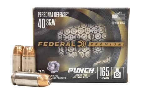 Federal 40SW 165 gr JHP Punch 20/Box