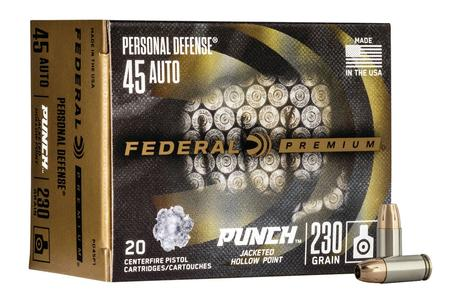 Federal 45 Auto 230 gr JHP Punch 20/Box