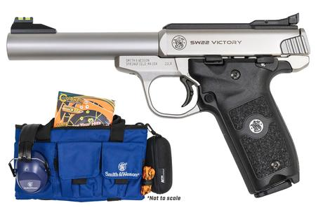 SMITH AND WESSON SW22 VICTORY RANGE PACKAGES 22 LR