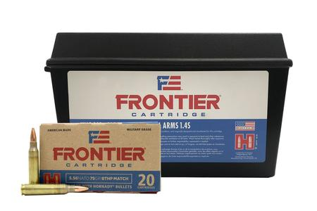 Hornady 5.56mm NATO 75 gr BTHP Match 420 Rounds in Ammo Can
