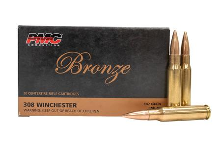 PMC 308 Winchester 147 gr Full Metal Jacket Boat-Tail 20/Box