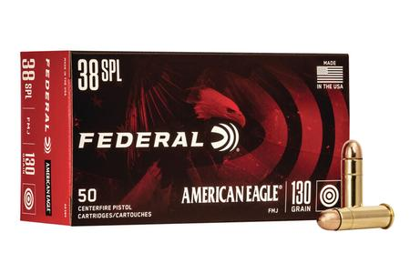 Federal 38 Special 130 gr Full Metal Jacket American Eagle 50/Box