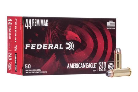 FEDERAL AMMUNITION 44 Rem Mag 240 gr Jacketed Hollow Point American Eagle 50/Box