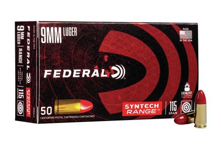 Federal 9mm Luger 115 gr Total Synthetic Jacket American Eagle Syntech 50/Box