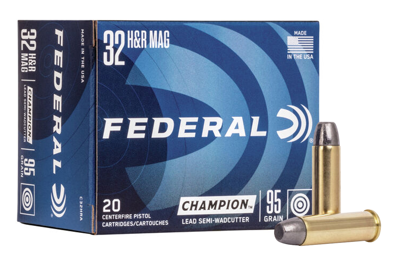 32 HR MAG 95 GR LEAD SEMI WADCUTTER CHAMPION