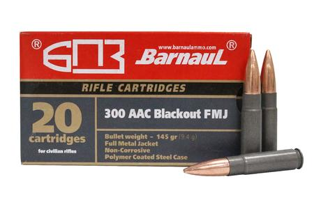 Barnaul 300 AAC Blackout 145 gr Full Metal Jacket Steel Case 20/Box