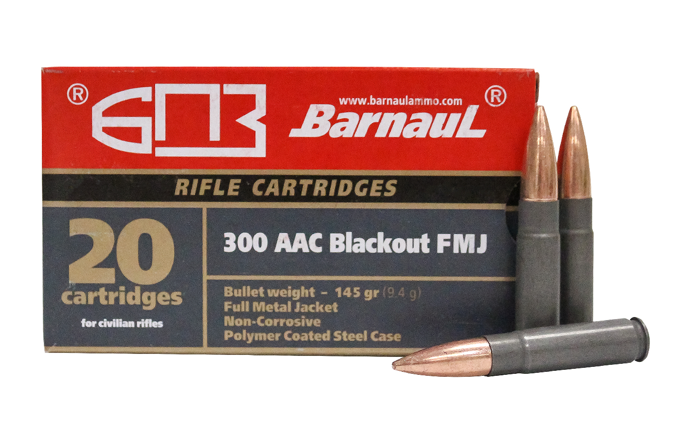 300 AAC BLACKOUT 145 GR FULL METAL JACKET 20/BOX