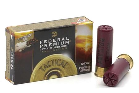Federal 12 Gauge 2-3/4 Inch 00 Buckshot #9 Tactical 5/Box