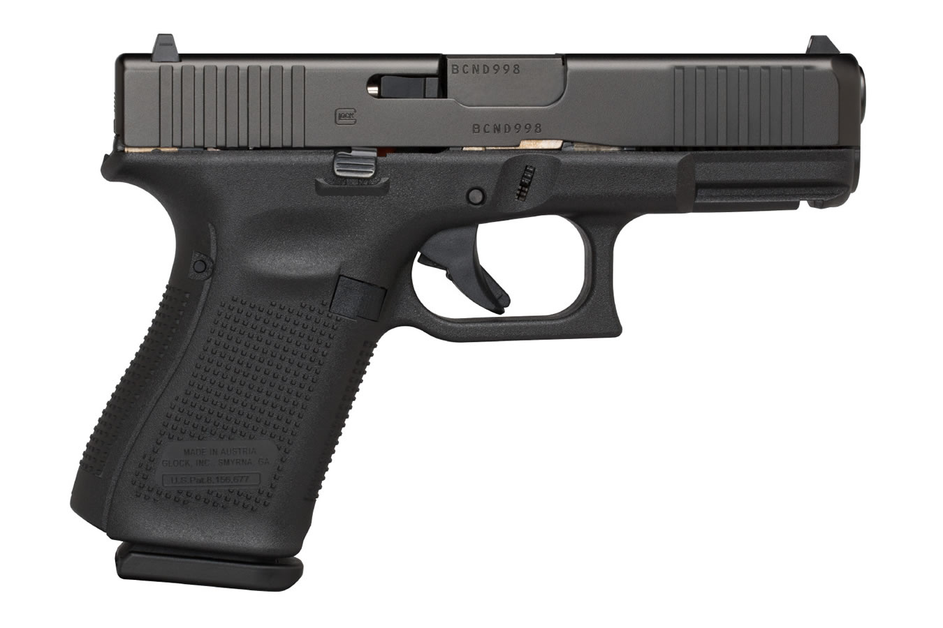 19 GEN5 9MM PISTOL WITH FRONT SERRATIONS AND AMERIGLO BOLD NIGHT SIGHTS (LE)