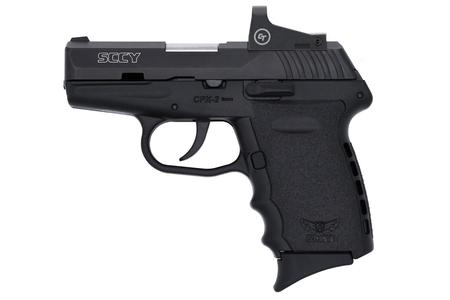 SCCY CPX2 9MM BLACK FRAME AND SLIDE RED DOT