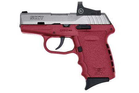 SCCY CPX2 9MM CRIMSON RED FRAME SILVER SLIDE RED DOT
