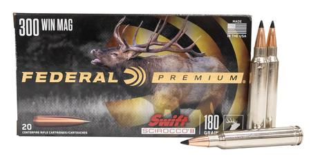 FEDERAL AMMUNITION 300 Win Mag 180 gr Swift Scirocco II 20/Box