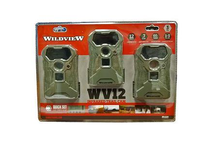 WILDVIEW 12MP INFRARED TRAIL CAMERA, 3-PACK