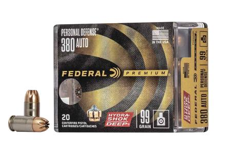 Federal 380 ACP 99 Gr Hydra-Shock Deep 20/Box