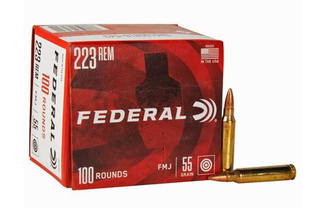 FEDERAL AMMUNITION 223 Rem 55 gr FMJ American Eagle 100/Box