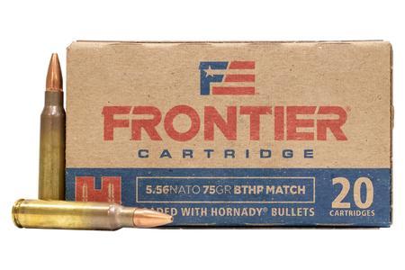 Hornady 5.56 NATO 75 gr BTHP Match Frontier 20/Box
