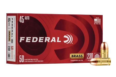 Federal 45 ACP 230 gr FMJ Champion Training Ammo 50/Box
