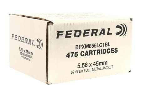 FEDERAL AMMUNITION XM855 5.56mm 62 gr FMJ-BT 475/Box