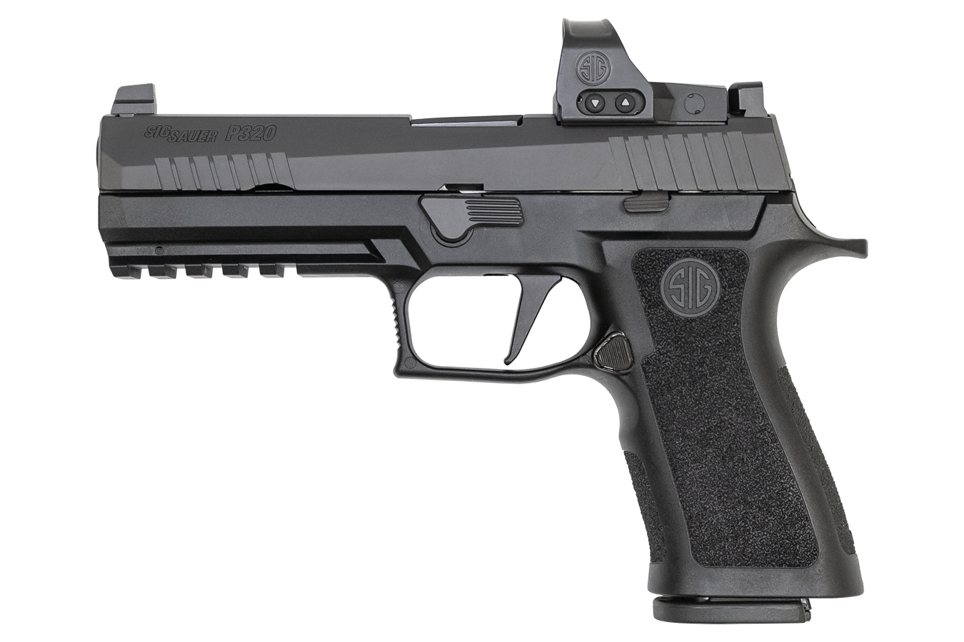 P320, 9MM,4.7`BARREL, PRO, BLK, X RAY SIGHTS, ROMEO 1 PRO, 3 MAGS, LONG DUST COV