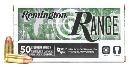 Remington 9mm 115 gr FMJ Range Ammo 50/Box