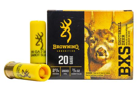 BROWNING AMMUNITION 20 Gauge 2-3/4 in 3/4 oz BXS Sabot Deer Slug 5/Box