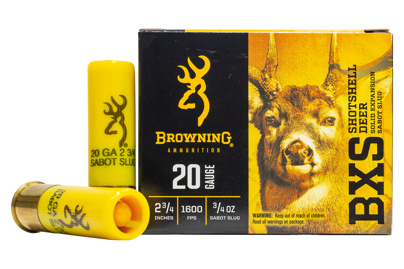 BROWNING AMMUNITION 20 GA 2-3/4 IN 3/4 OZ 325 GR BXS SABOT SLUG