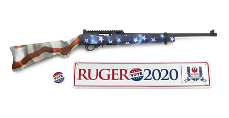 RUGER 10/22 22LR 4th Edition Collectors Series Vote 2020 Rimfire Rifle with American Flag Stock