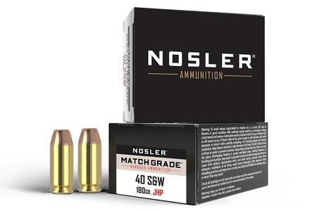 Nosler 40SW 180 gr JHP Match Grade 20/Box